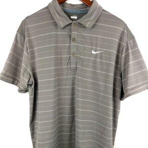 Nike fit dry grey Polo golf shirt xl